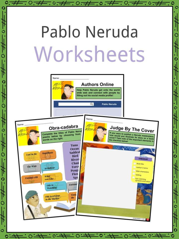 Pablo Neruda Worksheets