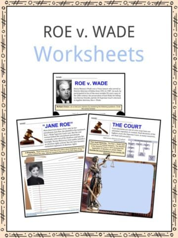 ROE v. WADE Worksheets