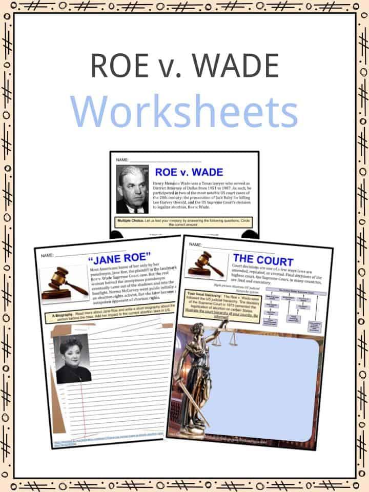 ROE v. WADE Worksheets