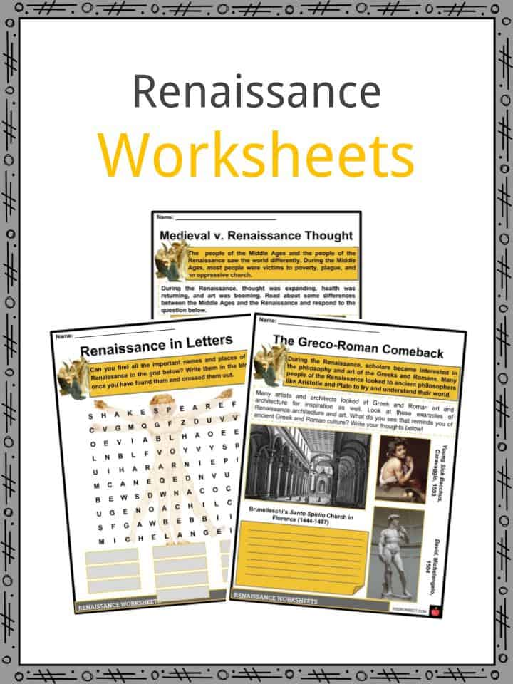 The Renaissance Period Facts, Information, Worksheets, Culture & Arts