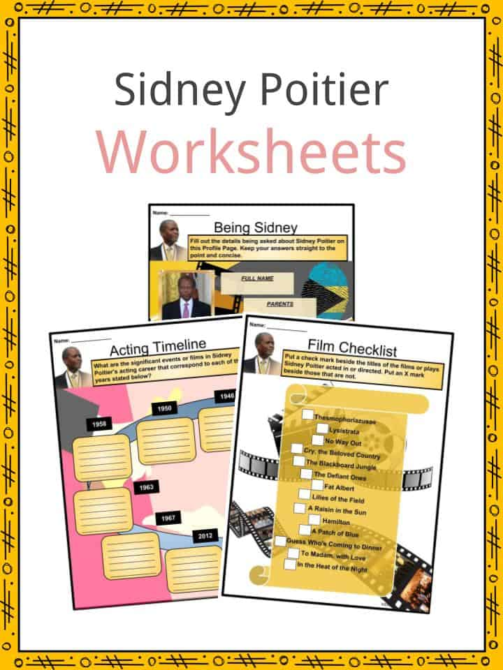 Sidney Poitier Worksheets