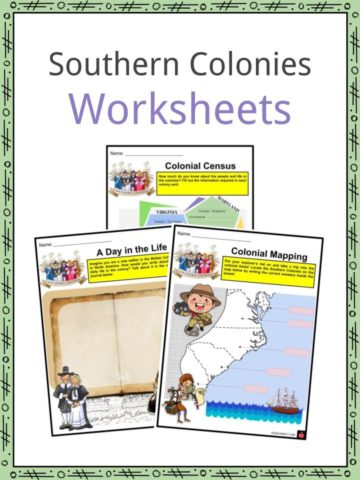 Southern Colonies Worksheets