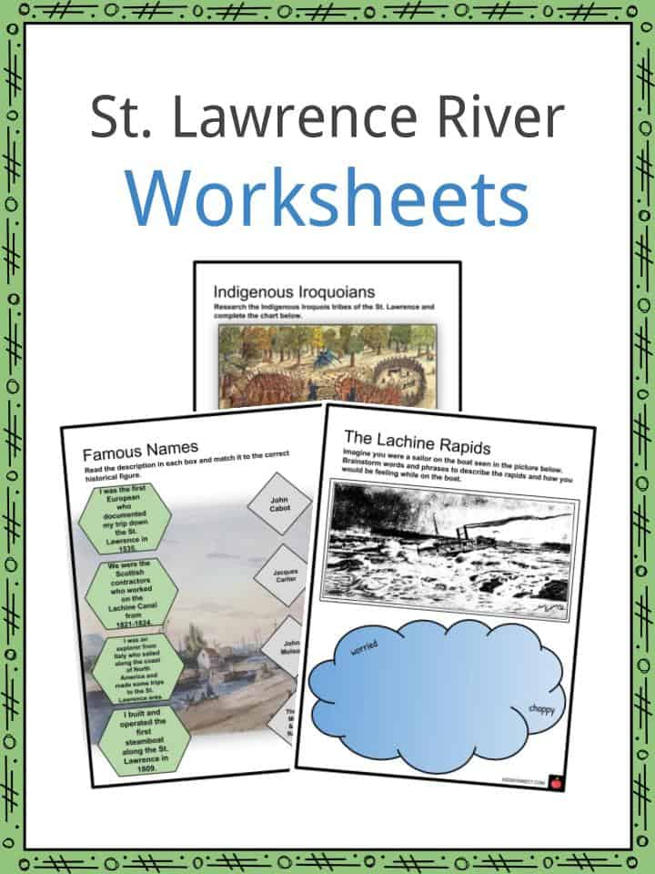 St Lawrence River Worksheets