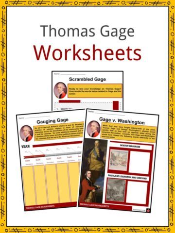 Thomas Gage Worksheets