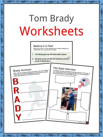 Tom Brady Worksheets