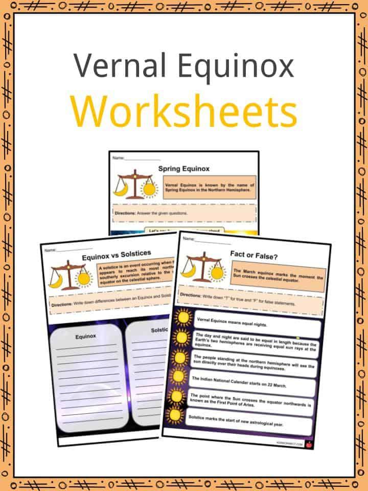 Vernal Equinox Worksheets