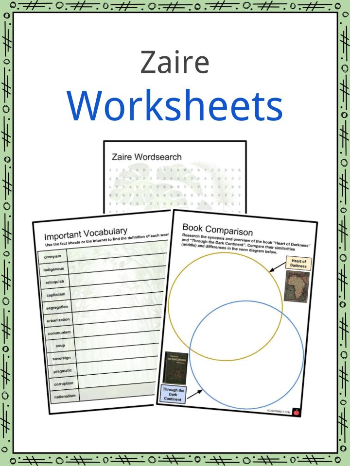 Zaire Worksheets