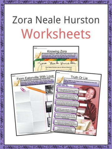 Zora Neale Hurston Worksheets