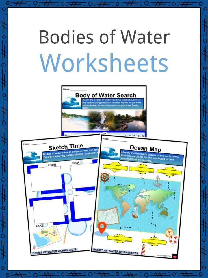 Bodies of Water Worksheets