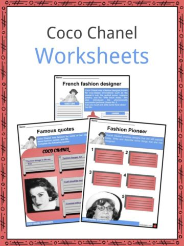 Coco Chanel Worksheets