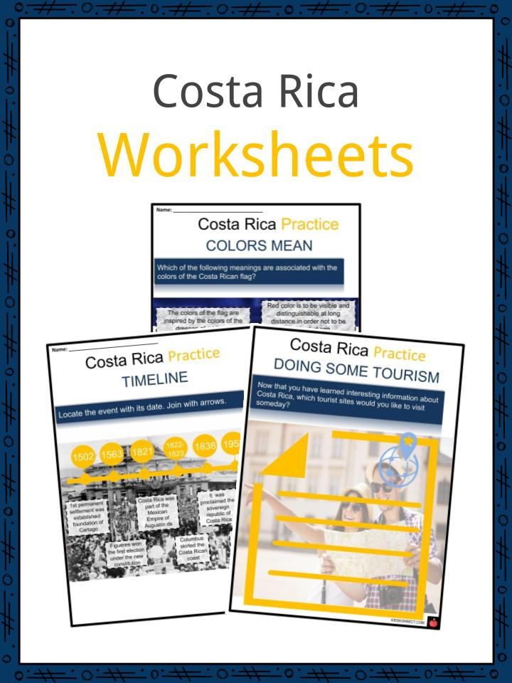 Costa Rica Worksheets