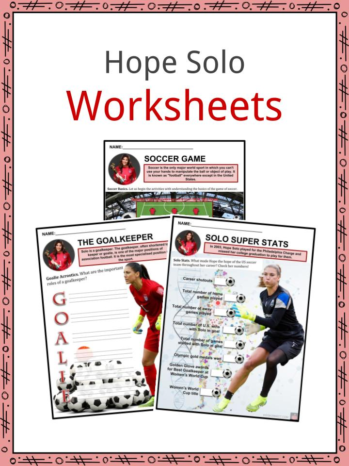 Hope Solo Worksheets