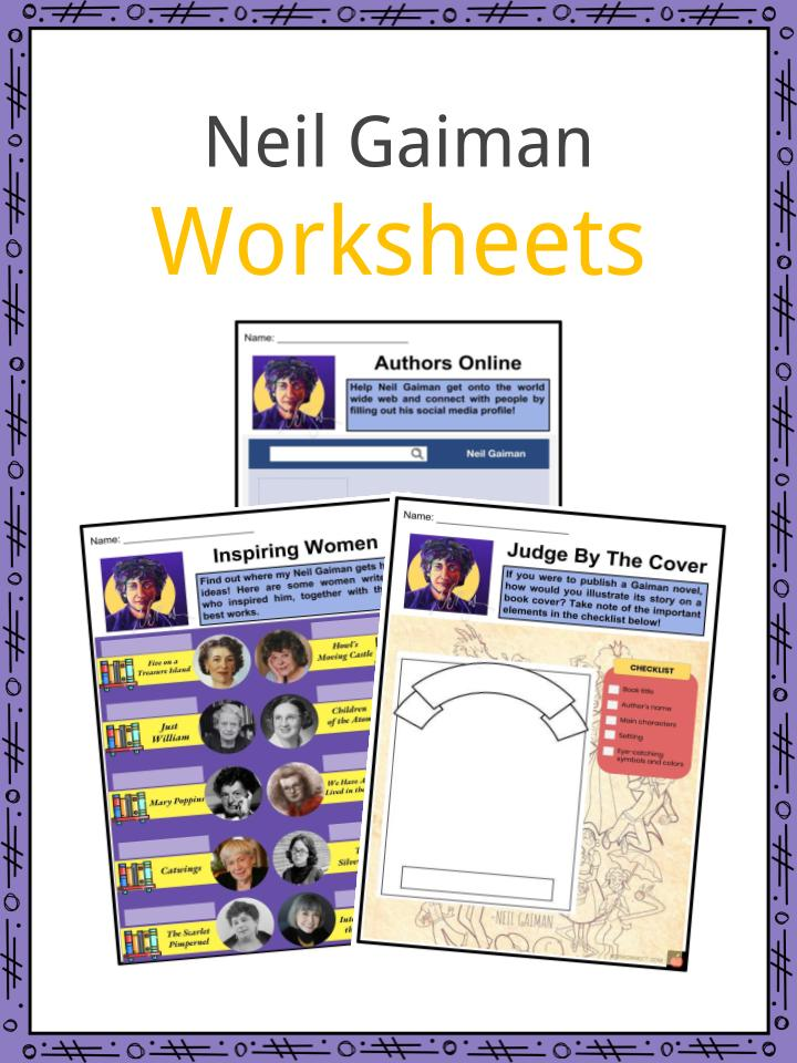 Neil Gaiman Worksheets