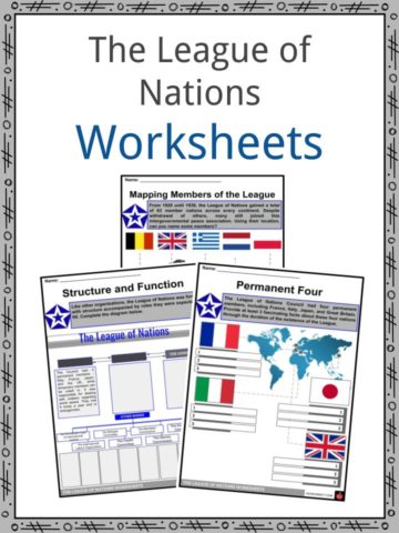 The League of Nations Worksheets