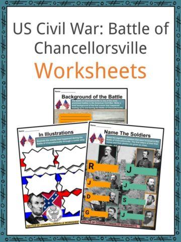 US Civil War_ Battle of Chancellorsville Worksheets