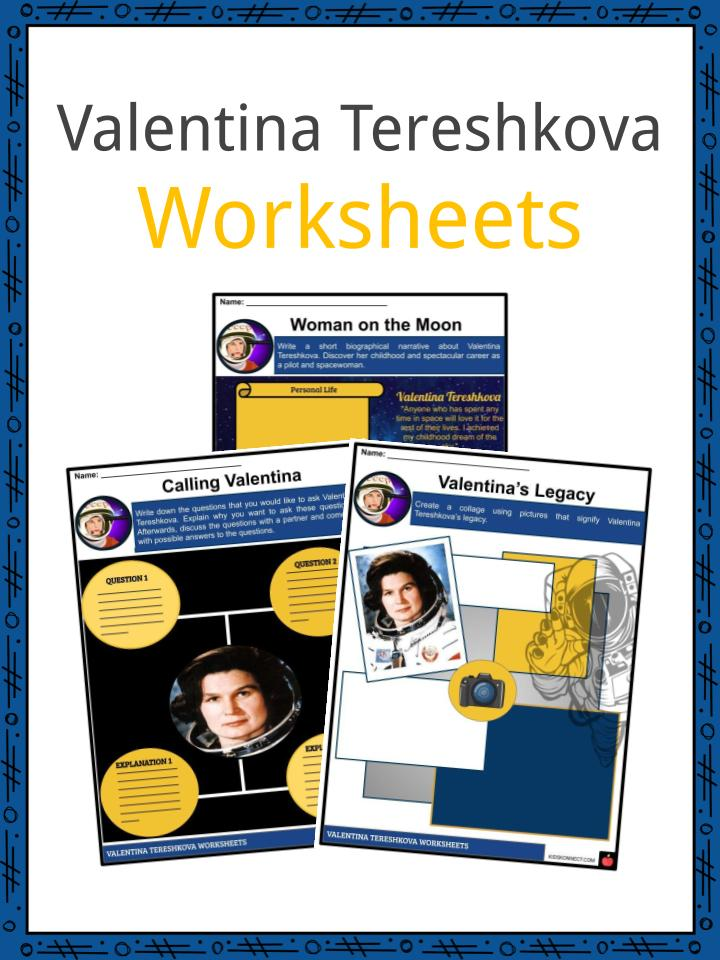 Valentina Tereshkova Worksheets