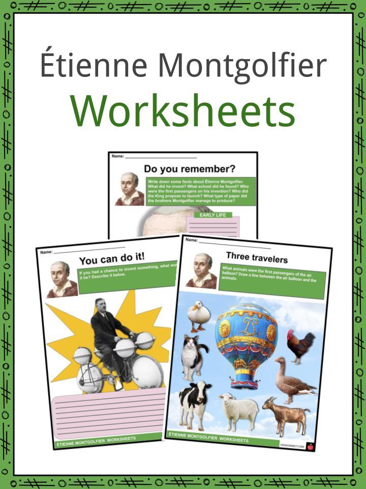 Étienne Montgolfier Worksheets