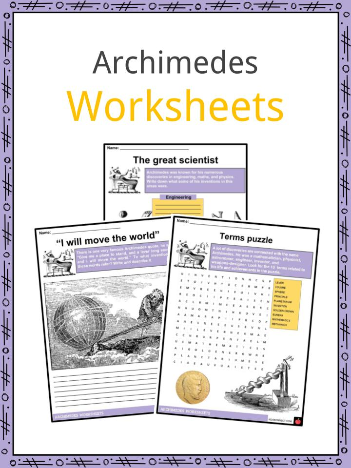 Archimedes Worksheets