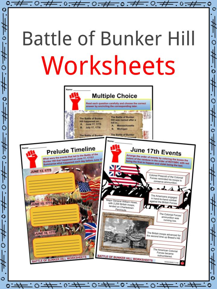 Battle of Bunker Hill Worksheets