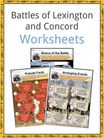 Battle of Lexington & Concord Worksheets