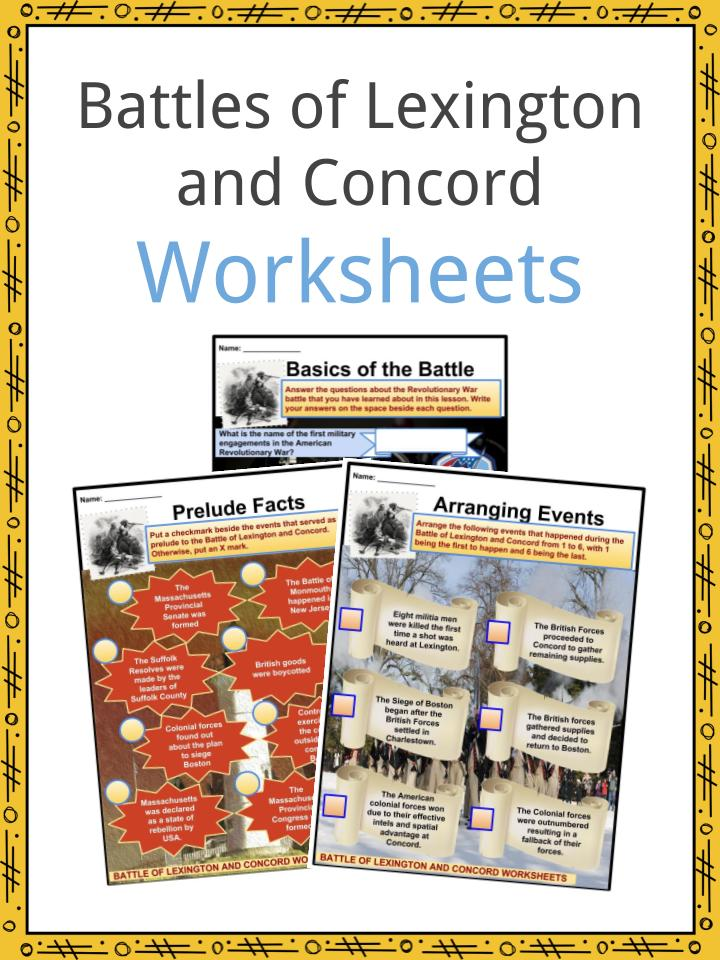Battle of Lexington & Concord Worksheets