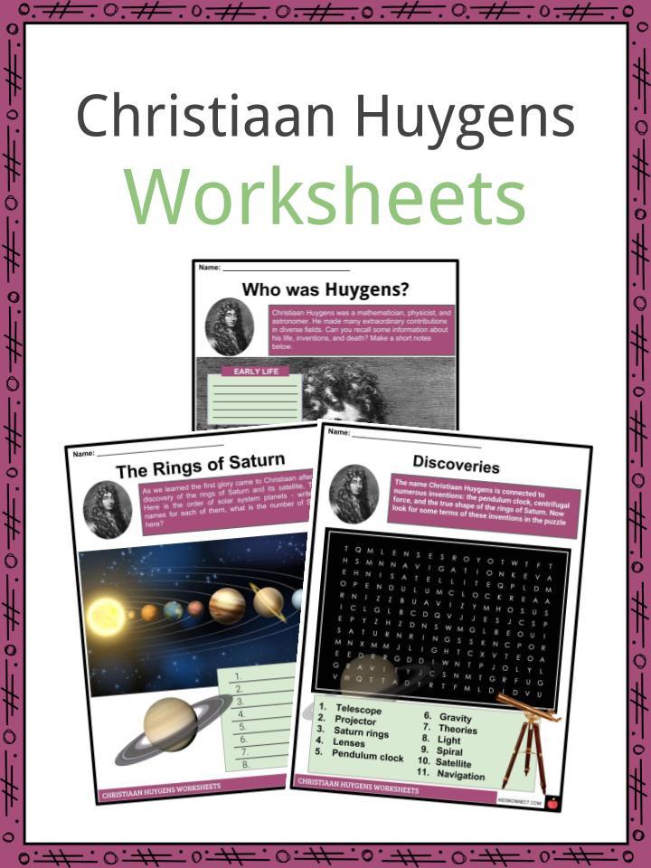 Christiaan Huygens Worksheets