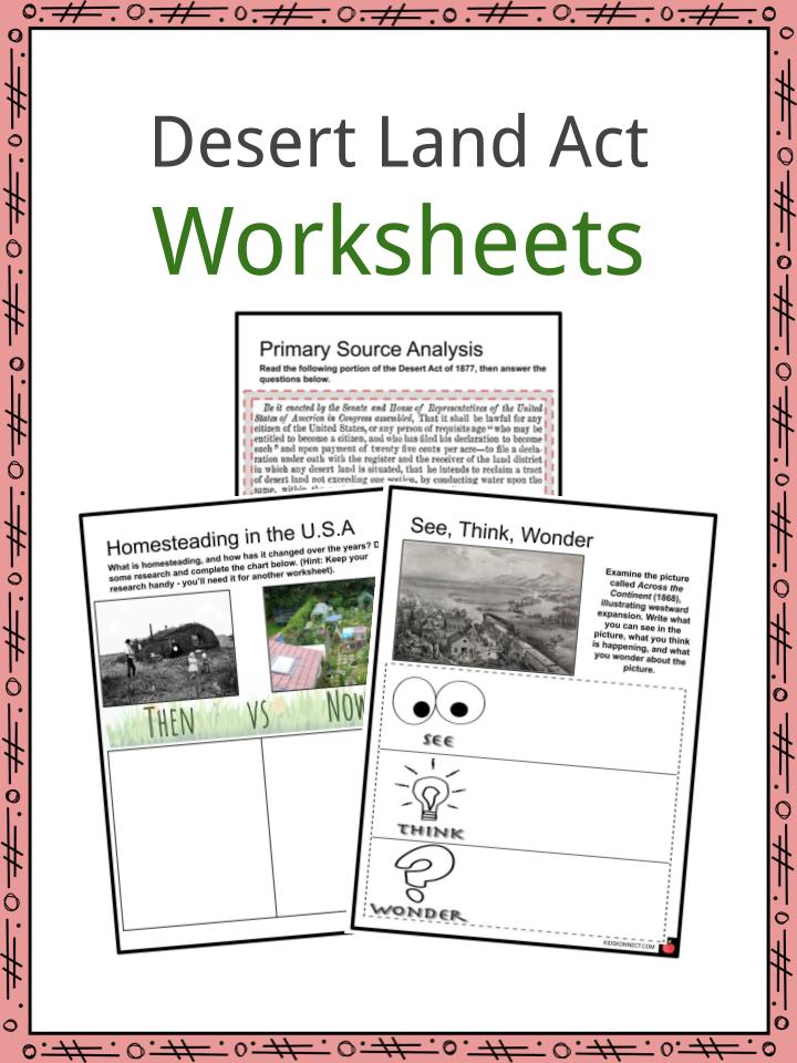 Desert Land Act Worksheet