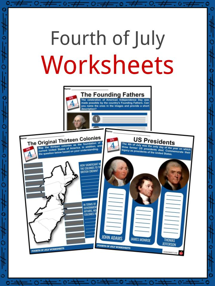 photograph relating to 4th of July Trivia Printable referred to as Fourth of July (4th July) Info, Worksheets Heritage For Young children