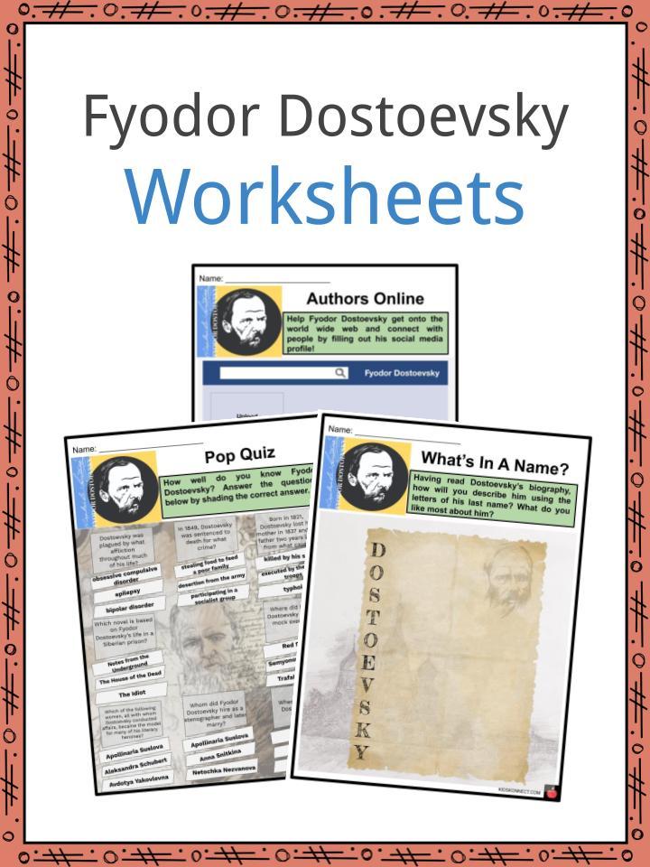 Fyodor Dostoevsky Worksheets