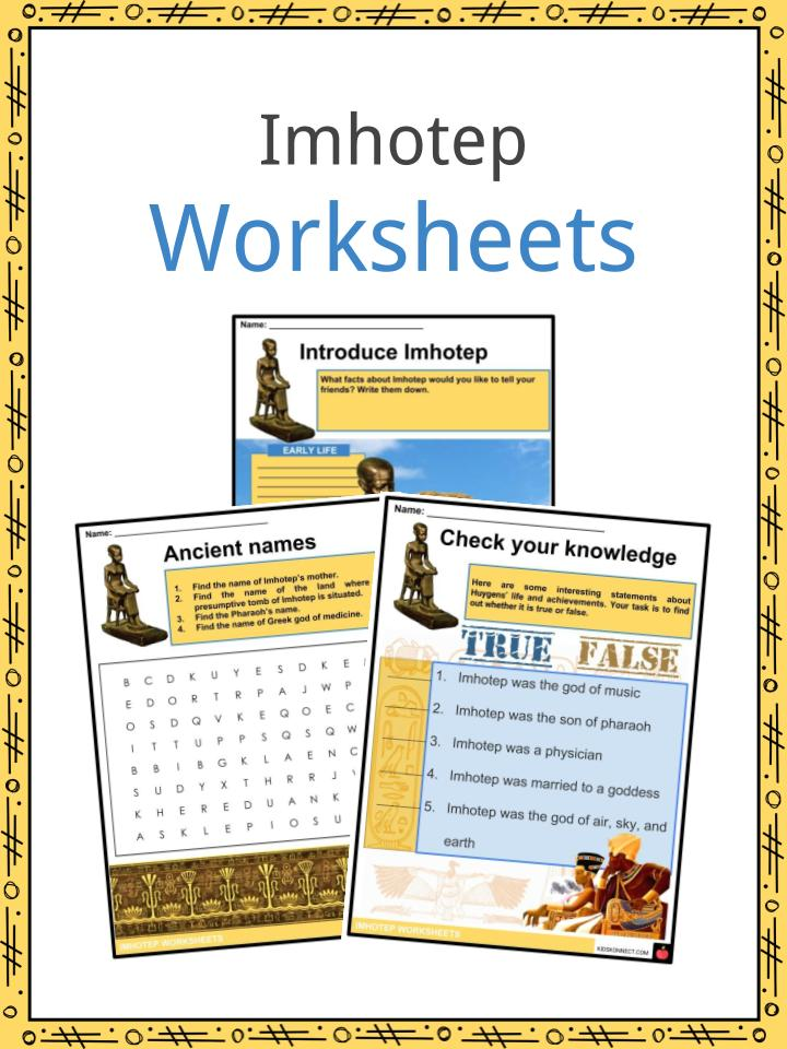 Imhotep Worksheets