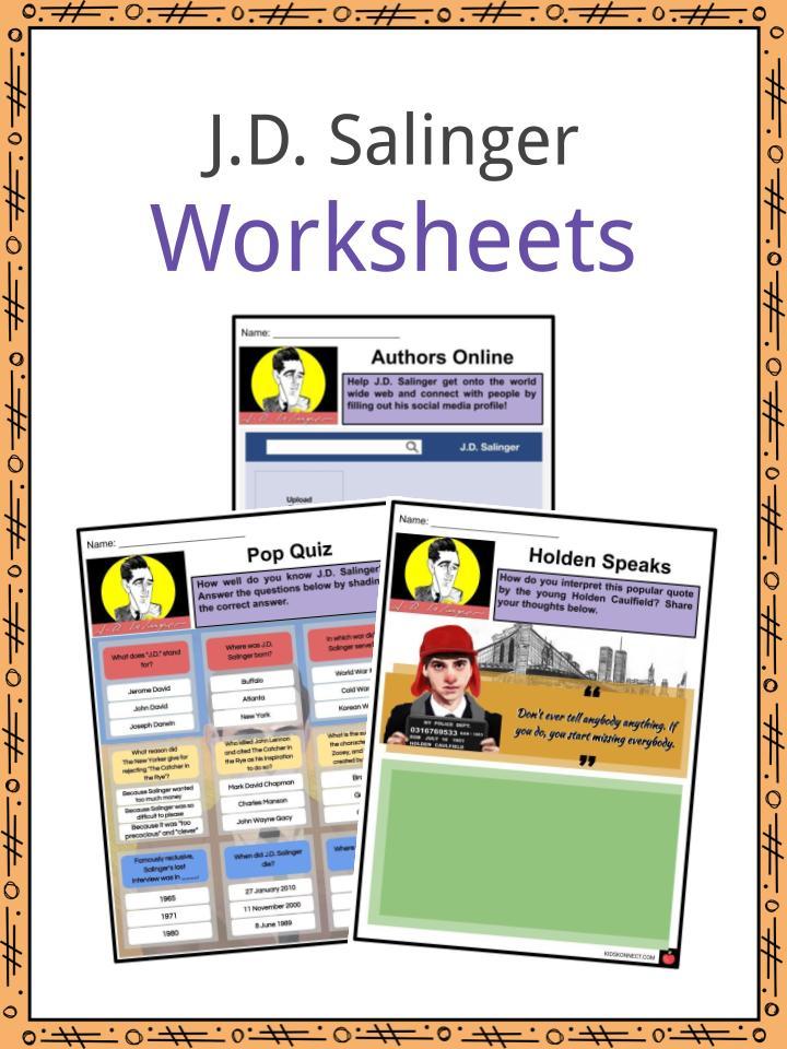 J.D. Salinger Worksheets
