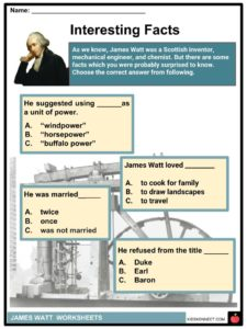 James Watt Facts, Worksheets, Life, Discoveries & Inventions