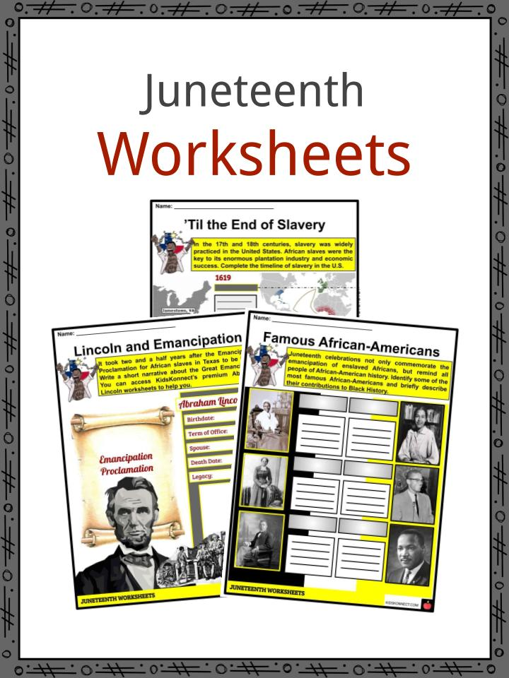 Juneteenth Worksheets