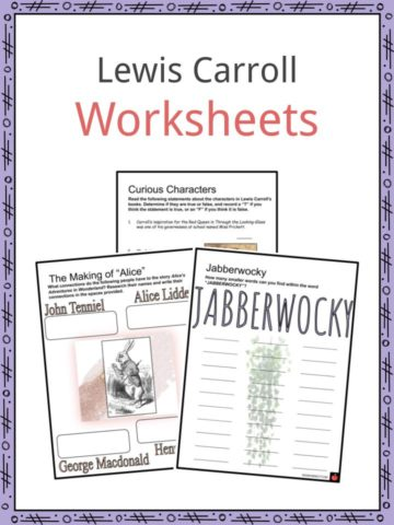 Lewis Carroll Worksheets
