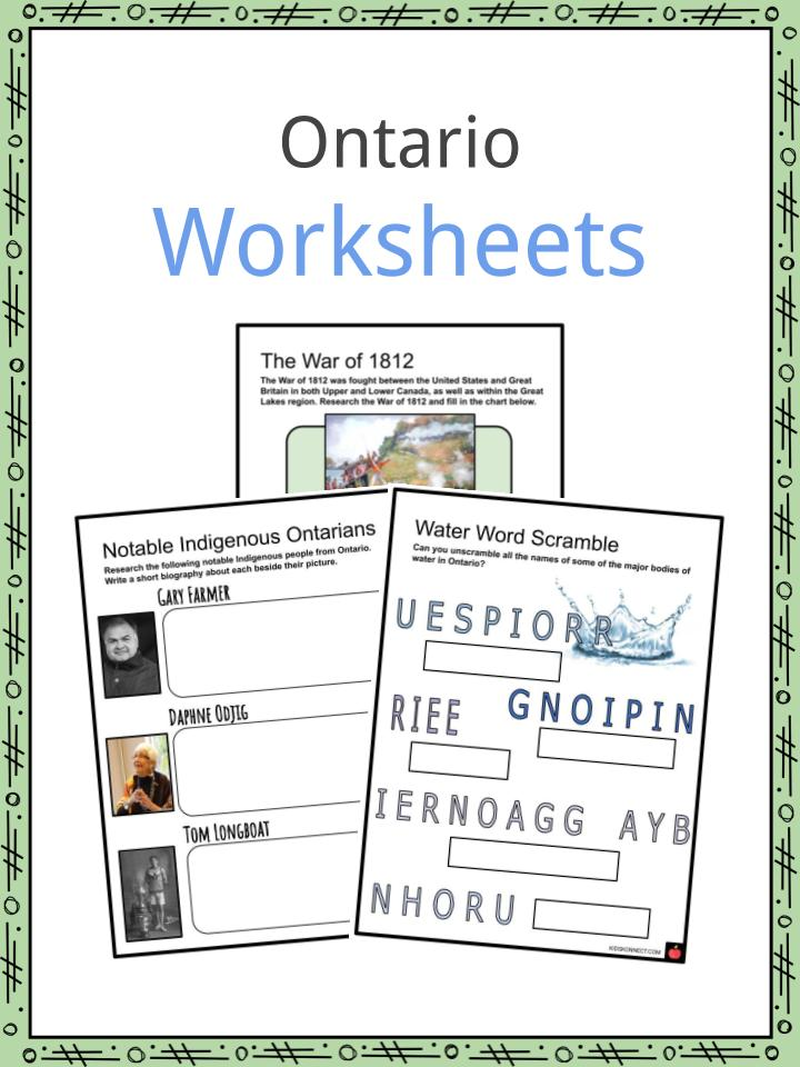 Ontario Worksheets