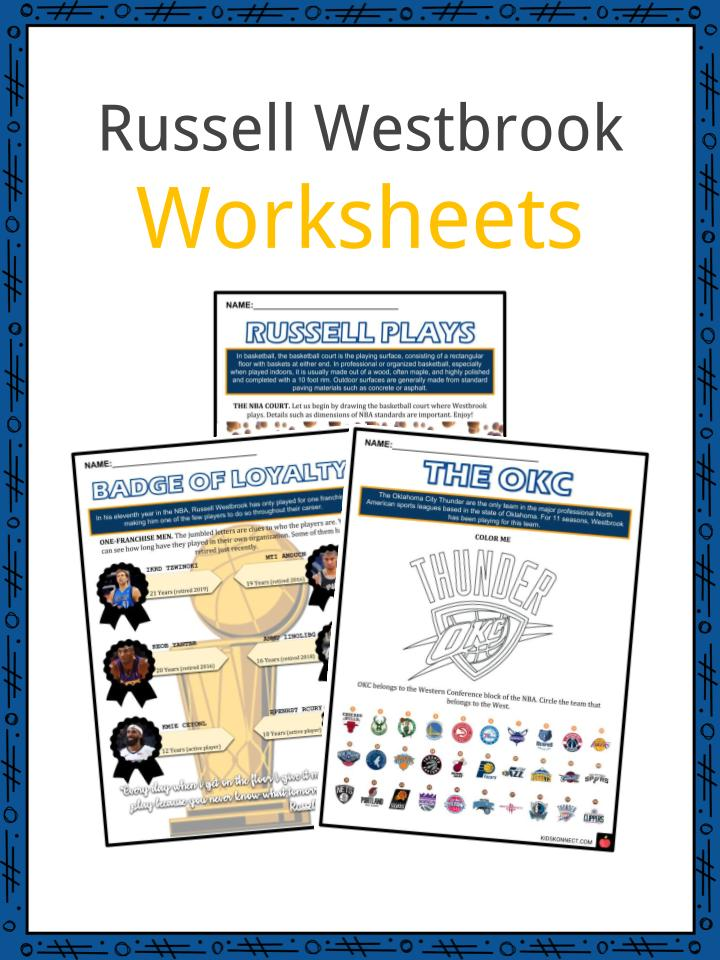 The Rus Westbrook Facts Worksheets