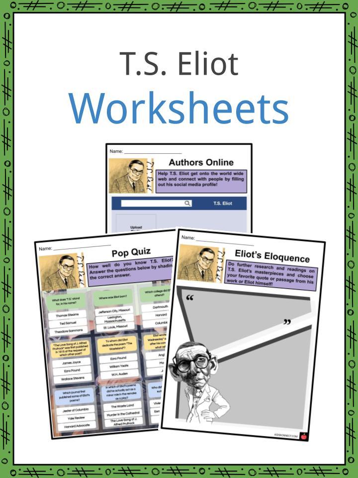 T.S. Eliot Worksheets