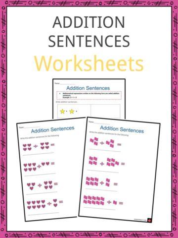 Addition Sentences Worksheets
