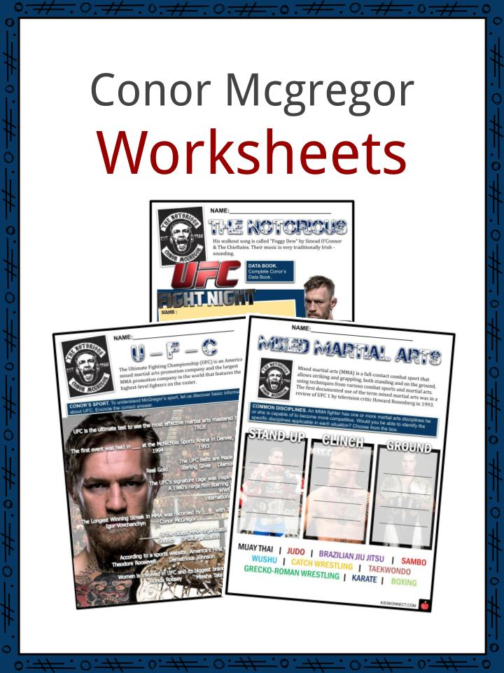 Conor Mcgregor Worksheets