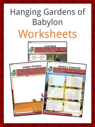 Hanging Gardens of Babylon Worksheets
