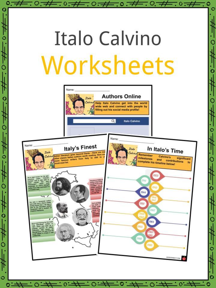 Italo Calvino Worksheets