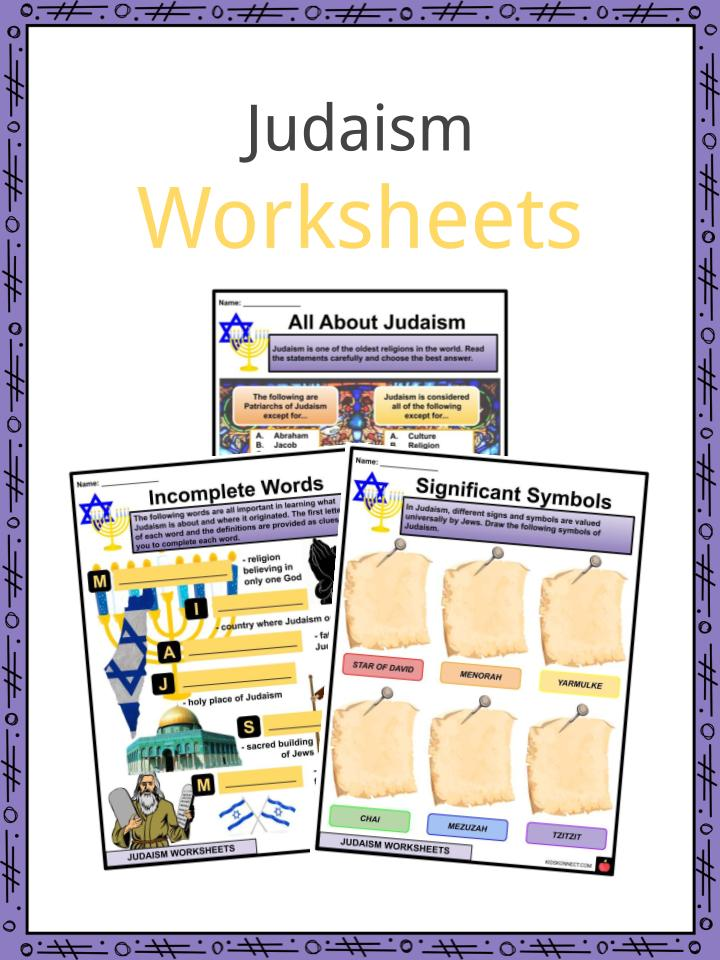 Judaism Worksheets