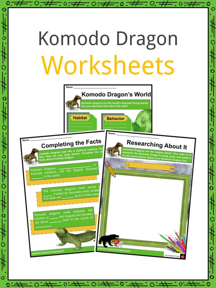 Komodo Dragon Worksheets