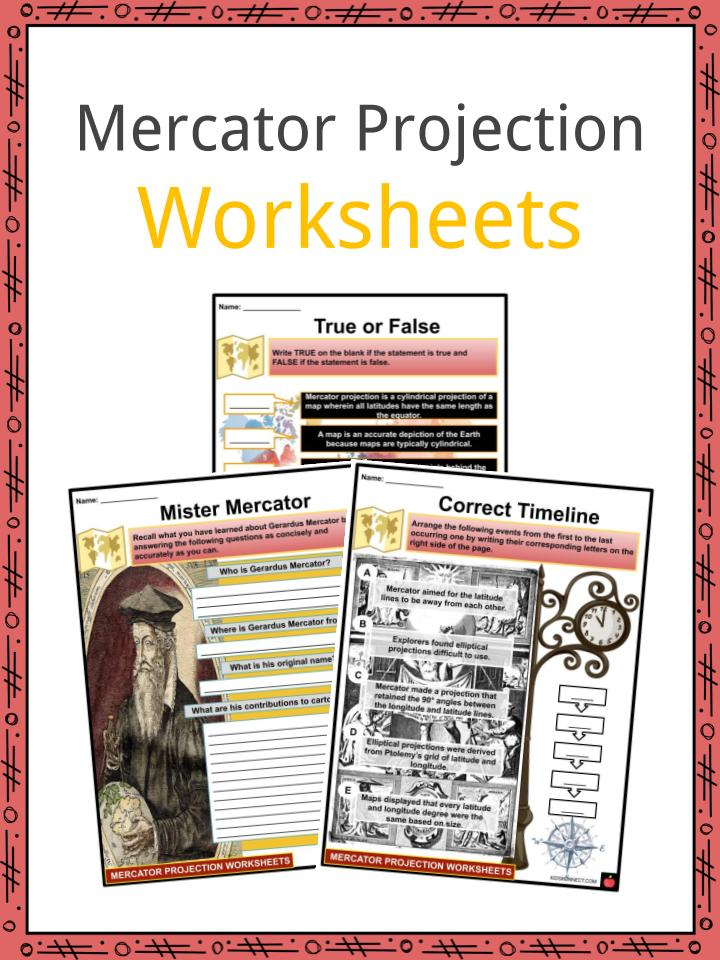 Mercator Projection Facts, Worksheets, History & Uses For Kids on