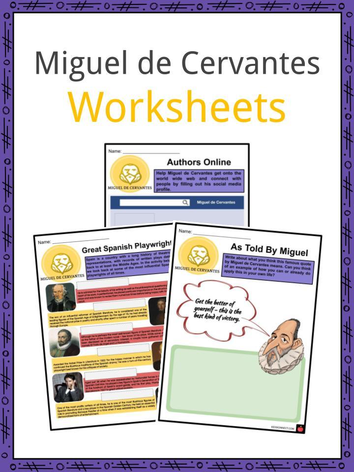 Miguel de Cervantes Worksheets