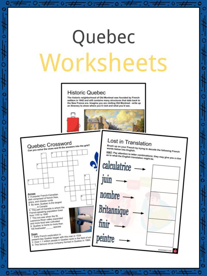 quebec facts worksheets history geography economy for kids. Black Bedroom Furniture Sets. Home Design Ideas