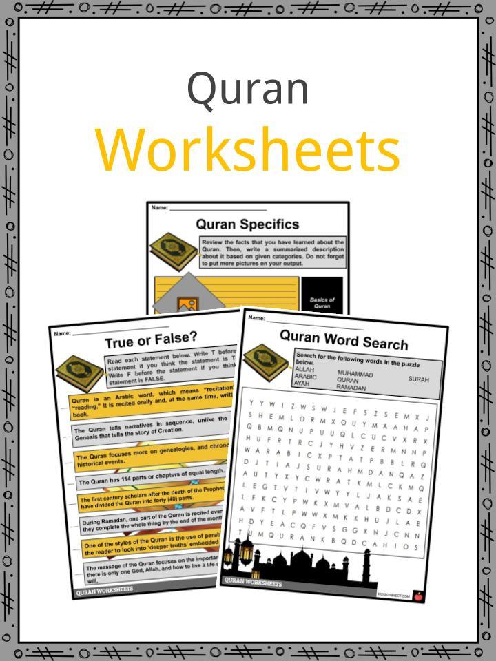 Quran Facts, Worksheets, Basics, Orgaquran, Style & Themes