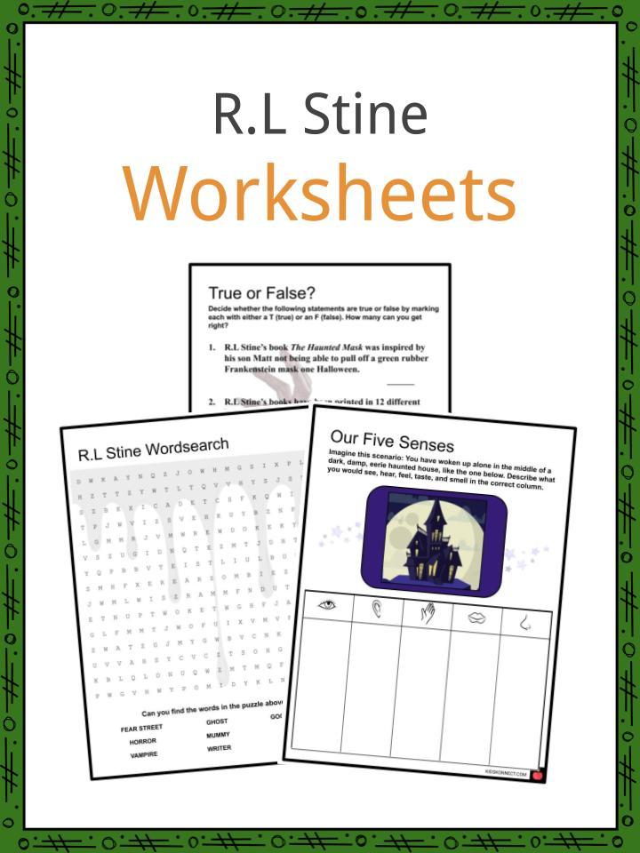 R.L Stine Worksheet
