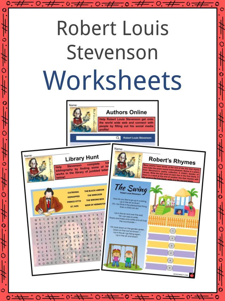Robert Louis Stevenson Worksheets
