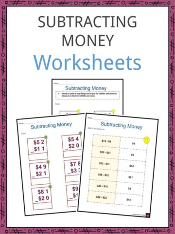 Subtracting money Worksheets